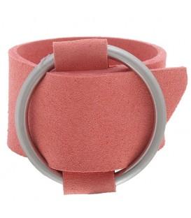 Roze brede armband met gesp