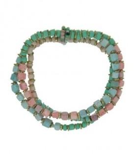 Mint - Groene armband op elastiek met kralen