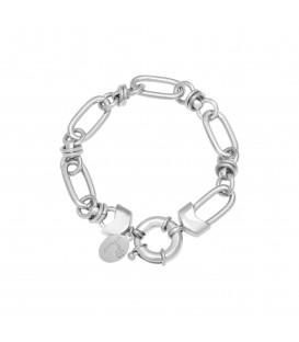 Zilverkleurige armband waar je leuke bedels aan kunt hangen