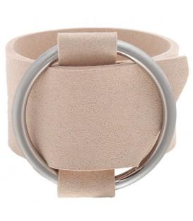 Beige brede armband met gesp
