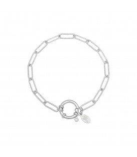 Zilverkleurige armband waar je bedels aan kunt hangen