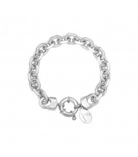 Zilverkleurige chain armband