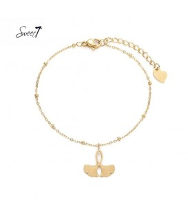 Goudkleurig armbandje met een bedel