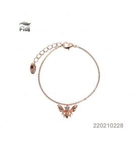 rosegoudkleurige armband met een insect