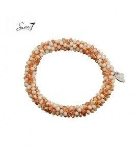 armband van oranje glaskralen