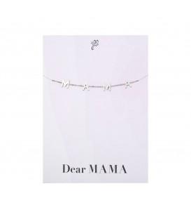 zilverkleurige leuke armband met de letters mama