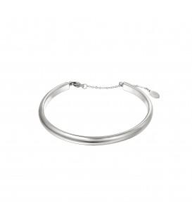 zilverkleurige basic bangle armband