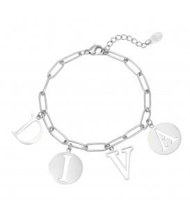 Zilverkleurige armband met het woord 'DIVA'