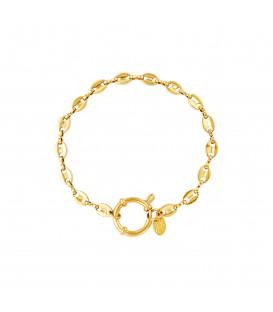 goudkleurige schakelarmband met ronde sluiting