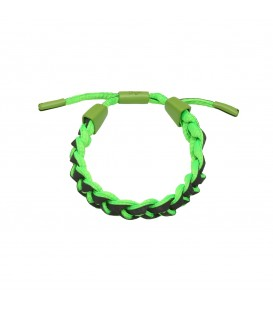 groen en zwart gevlochten armband